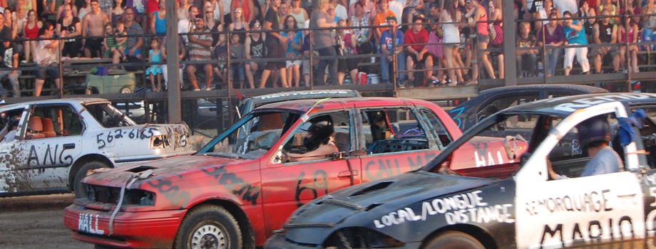 Saturday, July 13 Demolition Derby at the Grandstand!